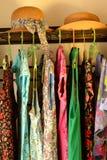 Θερινή womenswear ένωση και καπέλα αχύρου Στοκ εικόνα με δικαίωμα ελεύθερης χρήσης