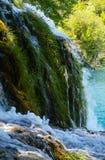 Θερινοί καταρράκτες σε Plitvice (Κροατία). Στοκ Φωτογραφίες