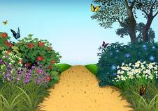 Θερινός κήπος ελεύθερη απεικόνιση δικαιώματος