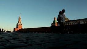 Θερινός περίπατος στην κόκκινη πλατεία απόθεμα βίντεο