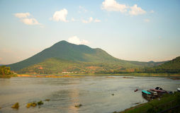 Θερινός ποταμός Μεκόνγκ Ταϊλάνδη Στοκ Φωτογραφίες