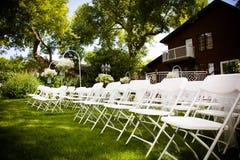 Θερινός υπαίθριος γάμος Στοκ Φωτογραφίες