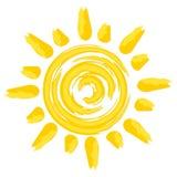 Θερινός φωτεινός ήλιος διανυσματική απεικόνιση