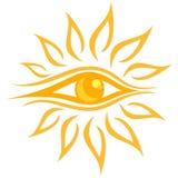 Θερινός φωτεινός ήλιος απεικόνιση αποθεμάτων