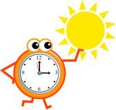 θερινός χρόνος διανυσματική απεικόνιση