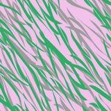 Θερινό άνευ ραφής σχέδιο του φυλλώματος, της χλόης και των σκιών Ελαφριά φυσικά πράσινα και ιώδη χρώματα απεικόνιση αποθεμάτων