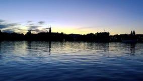 Θερινό βράδυ σε Savonlinna Φινλανδία απόθεμα βίντεο