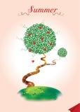 θερινό δέντρο καρτών Στοκ φωτογραφίες με δικαίωμα ελεύθερης χρήσης