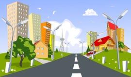θερινό διάνυσμα πόλεων διανυσματική απεικόνιση