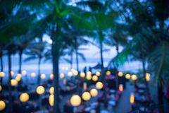 Θερινό εστιατόριο αργά το βράδυ στοκ εικόνα