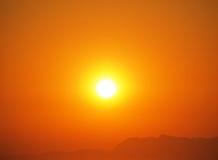 θερινό ηλιοβασίλεμα Στοκ Εικόνα