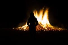 θερινό ηλιοστάσιο της Γερμανίας πυρκαγιάς στοκ φωτογραφία