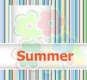 Θερινό θέμα με floral πέρα από το φωτεινό πολύχρωμο υπόβαθρο, θερινά λουλούδια Στοκ εικόνα με δικαίωμα ελεύθερης χρήσης