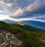 Θερινό Καρπάθιο βουνό, Ουκρανία Στοκ εικόνα με δικαίωμα ελεύθερης χρήσης