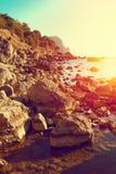 θερινό κείμενο θάλασσας τοπίων παρεχόμενο θέση κάτω από το διάνυσμα Στοκ φωτογραφία με δικαίωμα ελεύθερης χρήσης