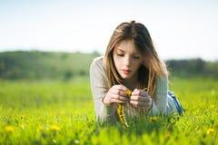 Θερινό κορίτσι Στοκ φωτογραφία με δικαίωμα ελεύθερης χρήσης