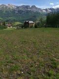 Θερινό ορεινό χωριό Στοκ Φωτογραφία