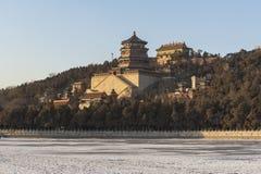 Θερινό παλάτι το χειμώνα Στοκ εικόνες με δικαίωμα ελεύθερης χρήσης