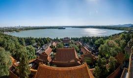 Θερινό παλάτι του Πεκίνου για να στείλει τα κτήρια του τοπικού LAN Tong Στοκ Φωτογραφία