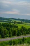 Θερινό πορφυρό ηλιοβασίλεμα Στοκ εικόνες με δικαίωμα ελεύθερης χρήσης