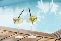 Θερινό ποτό πάγου σόδας prosecco του Hugo elderflower στοκ εικόνες με δικαίωμα ελεύθερης χρήσης
