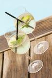 Θερινό ποτό πάγου σόδας prosecco του Hugo elderflower Στοκ φωτογραφία με δικαίωμα ελεύθερης χρήσης