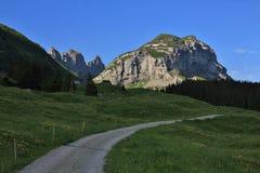 Θερινό πρωί στα βουνά Appenzell Στοκ Φωτογραφίες