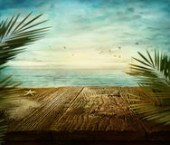 Θερινό σχέδιο - άποψη θάλασσας Στοκ Φωτογραφία