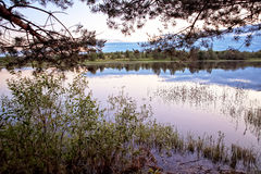 Θερινό τοπίο στον ποταμό Στοκ εικόνα με δικαίωμα ελεύθερης χρήσης