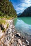 Θερινό τοπίο στον ποταμό Katun Altai, νότια Σιβηρία, RU στοκ εικόνες με δικαίωμα ελεύθερης χρήσης