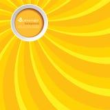 Θερινό υπόβαθρο με έναν κύκλο ελεύθερη απεικόνιση δικαιώματος