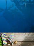 Θερινό υπόβαθρο παραλιών του AR Στοκ φωτογραφία με δικαίωμα ελεύθερης χρήσης