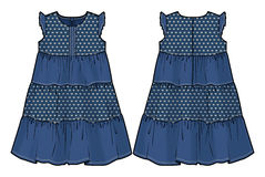 Θερινό φόρεμα τζιν Στοκ Φωτογραφία
