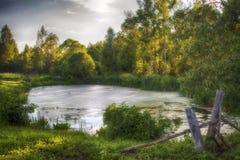 θερινό χωριό ουρανού σύννεφων ρωσικό στοκ εικόνες με δικαίωμα ελεύθερης χρήσης