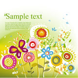 Θερινό floral σχέδιο Στοκ Εικόνα