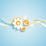 Θερινό floral υπόβαθρο διανυσματική απεικόνιση