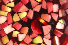 Θερινό Sangria φρούτων Στοκ Εικόνες