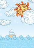 Θερινό seascape Στοκ Εικόνες