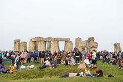 Θερινό solstice Stonehenge Στοκ Εικόνα