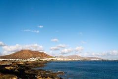 θερινό Tj της Ισπανίας playa papagayo Lanzarote π& Στοκ Εικόνα
