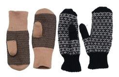 Θερμά γάντια χειμερινών μάλλινα χρησιμοποιημένα γυναικών ` s του ύφους χωρών Στοκ φωτογραφία με δικαίωμα ελεύθερης χρήσης