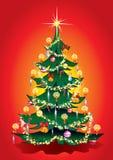 θερμά Χριστούγεννα δέντρω&nu απεικόνιση αποθεμάτων