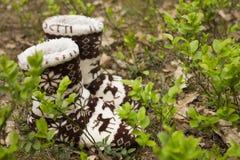 Θερμές κάλτσες στο δάσος Στοκ φωτογραφία με δικαίωμα ελεύθερης χρήσης