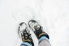 Θερμές μπότες στο χιόνι στη Ρωσία στοκ φωτογραφία με δικαίωμα ελεύθερης χρήσης