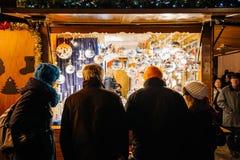 Θερμαμένη αγορά Χριστουγέννων κρασιού Στοκ Φωτογραφίες