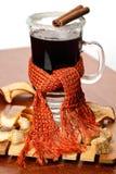 θερμαμένο γυαλί κρασί Στοκ εικόνα με δικαίωμα ελεύθερης χρήσης
