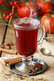 Θερμαμένο κρασί - ένα ποτό που γίνεται με το κόκκινο κρασί Στοκ Φωτογραφίες