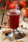 Θερμαμένο κρασί - ένα ποτό που γίνεται με το κόκκινο κρασί Στοκ Εικόνες