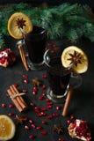 θερμαμένο κρασί καρυκε&upsilo Στοκ εικόνες με δικαίωμα ελεύθερης χρήσης