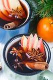 Θερμαμένο κρασί με το μήλο Στοκ εικόνα με δικαίωμα ελεύθερης χρήσης